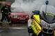 BMW motorokon a tűzoltók