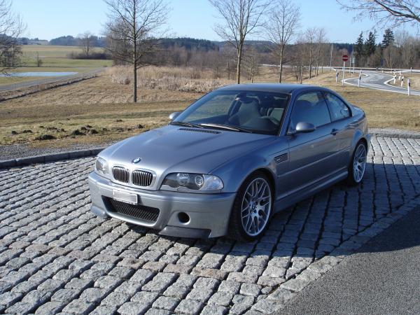Silver BMW M3 CSL. nagyítás