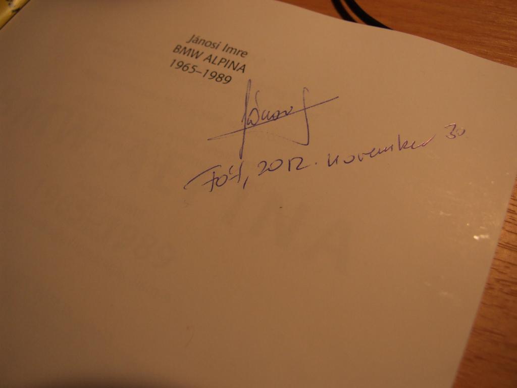 A kicsi feleségemtől kaptam:)Enyém a 433-as sorszámú  Alpina könyv ! nagyítás