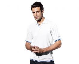 Férfi csíkos BMW pólóing (Fehér)